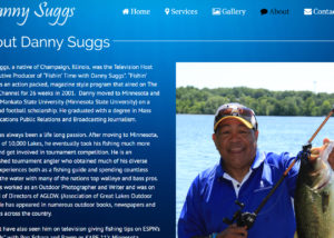 fishing website design
